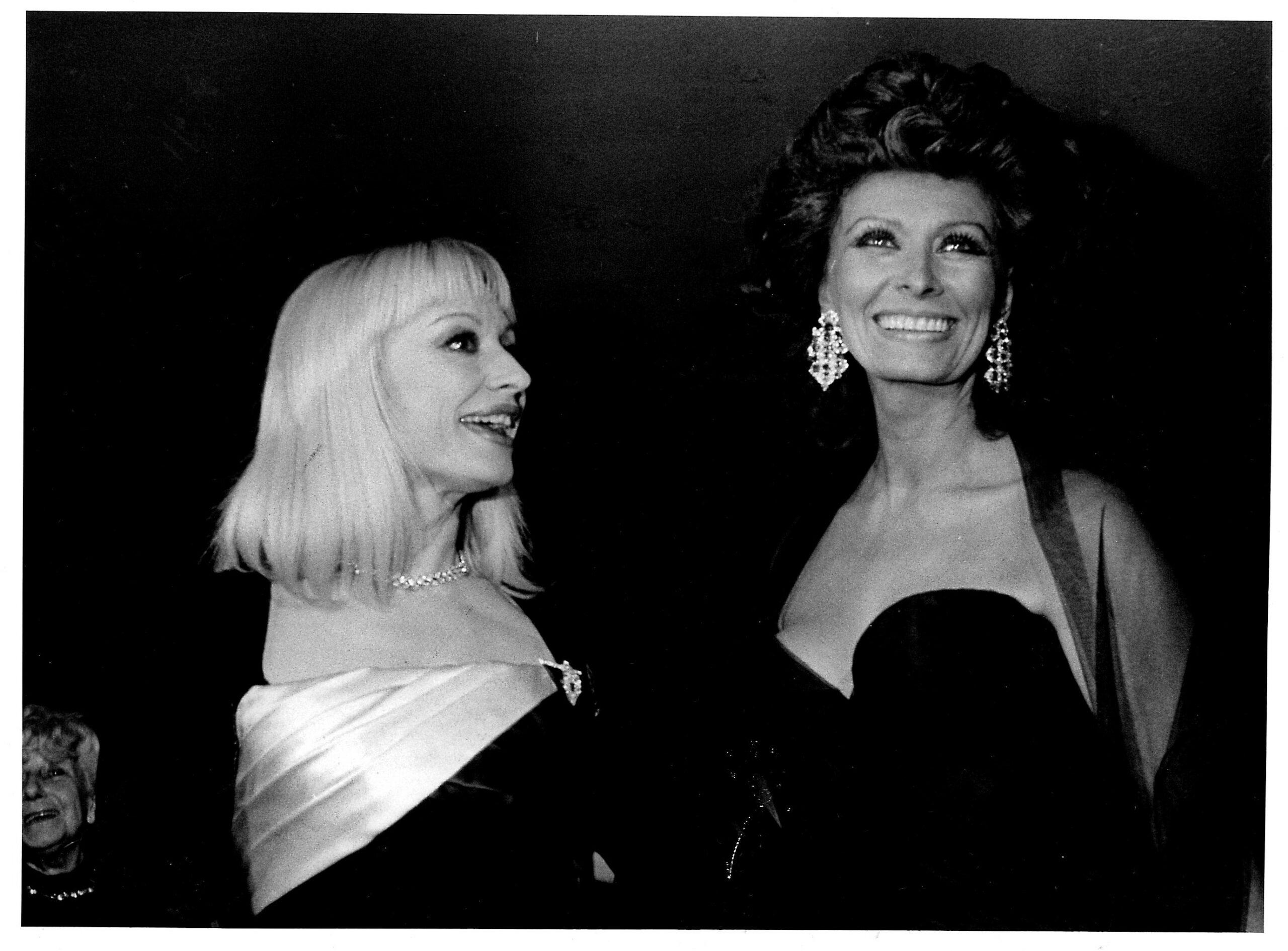 Carrà e Sophia Loren, 1988